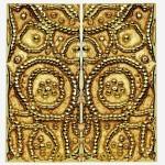 Tirant de porte en bronze finition doré